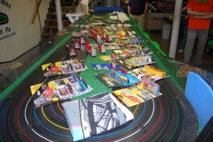 Donated prizes by: Jim Levan, Billy Decker, Tom Hiester's HO Raceway, Tracy Readinger, Bob Amore, anda Randy's Raceway
